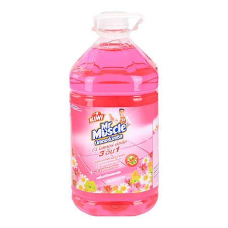 น้ำยาทำความสะอาด กีวี มิสเตอร์มัสเซิล ชมพู 5.2 ลิตร กลิ่น สวีทฟลอรัล