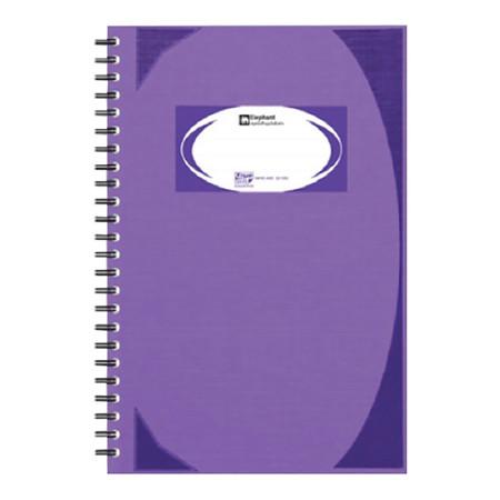 สมุดบันทึกมุมมันสันห่วง ตราช้าง WHC-405 สีม่วง