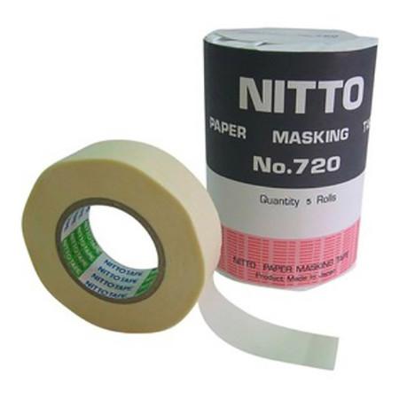เทปกระดาษกาวย่น NITTO 3/4''x18ม. แกน 1'' แพ็ค 5 ม้วน