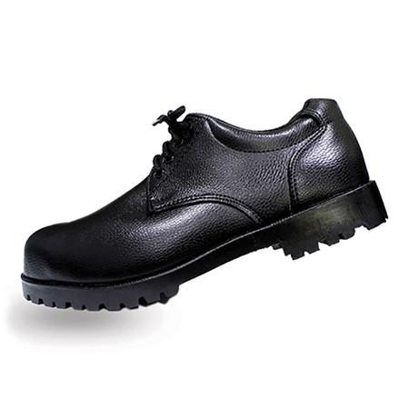 รองเท้าเซฟตี้หุ้มส้น หนัง PVC แบบผูกเชือก A-TAP รุ่น V-01 Size 43 สีดำ