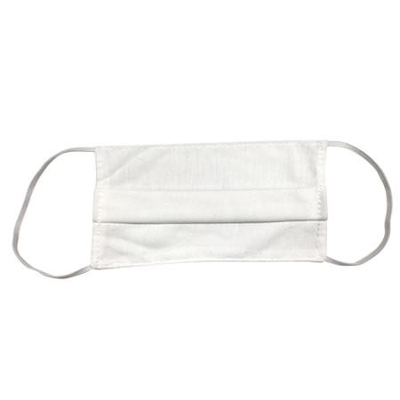 หน้ากากผ้า TC Cotton หนา 2 ชั้น สีขาว (แพ็ค 12 ชิ้น)