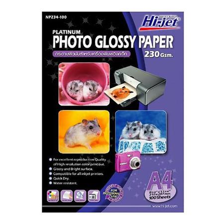 กระดาษอิงค์เจ็ทโฟโต้ HI-JET NP234-100 230g A4(แพ็ค 100 แผ่น)