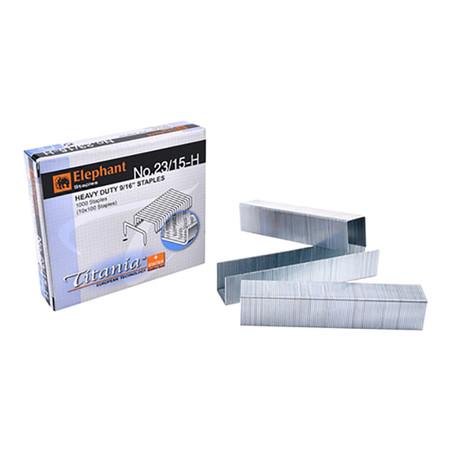 ลวดเย็บกระดาษ ตราช้าง Titania23/15-H 1000 ลวด