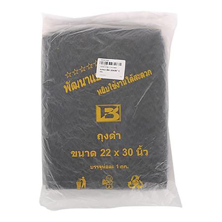 ถุงขยะ สีดำ 22x30