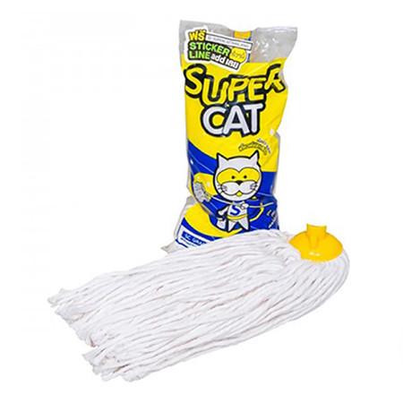 อะไหล่ผ้าม็อบจุก 14 นิ้ว 350 กรัม ผ้าขาว SUPERCAT
