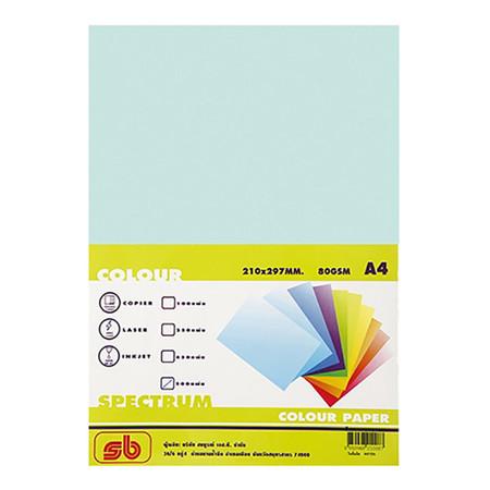 กระดาษสีถ่ายเอกสาร สเปคตรัม No.7 80/500 A4 สีเขียว