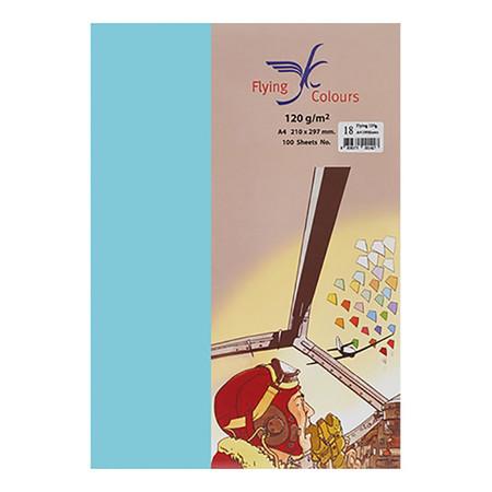 กระดาษสีถ่ายเอกสาร ฟลายอิ้ง No.14 160/50A4 สีฟ้า