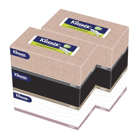 กระดาษเช็ดหน้า คลีเน็กซ์ BE U 140 แผ่น(แพ็ค 6 กล่อง)