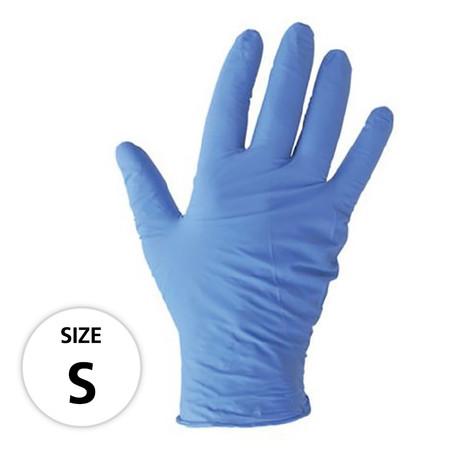 ถุงมือไนไตร MICROTEX รุ่น SUPER-TOUCH Size S สีฟ้า (กล่อง 50 คู่)