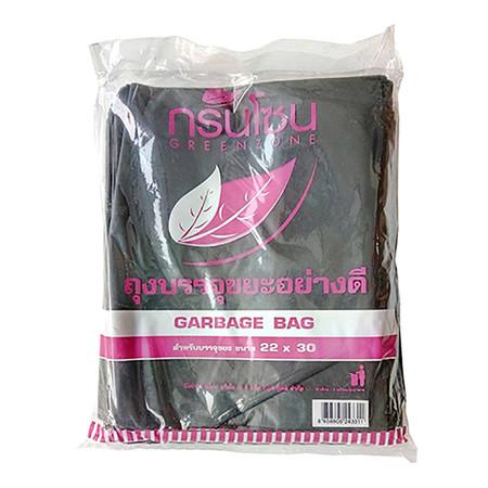 ถุงขยะ สีดำ กรีนโซน ขนาด 22x30