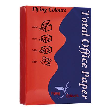 กระดาษสีถ่ายเอกสาร ฟลายอิ้ง No.30 80/500 A4 สีแดง