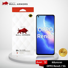 Bull Armors ฟิล์มกระจก OPPO Reno 5 / 5G (ออปโป้) บูลอาเมอร์ ฟิล์มกันรอยมือถือ 9H+ ติดง่าย สัมผัสลื่น 6.43