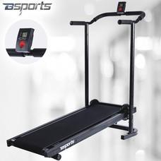 Bsports บีสปอร์ต ลู่วิ่ง ลู่เดิน ระบบสายพาน ไม่ใช้ไฟฟ้า พับเก็บได้ ใช้แรงโน้มถ่วง เครื่องออกกำลังกาย Manual Comfort Treadmill (สีดำ)