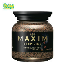 Agf Maxim Deep Line Freeze Dried Coffee Bottle 80G.