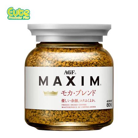 Agf Maxim Mocha Blend Freeze Dried Coffee Bottle 80G.