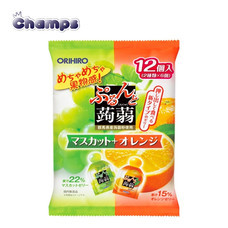 Orihiro Konjac Jelly Mascat + Orange Pouch 240 g.