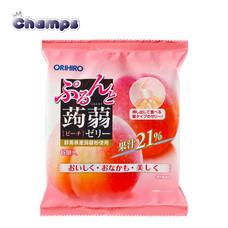 Orihiro Konjac Jelly Peach Pouch 120 g.