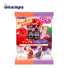 Orihiro Konjac Jelly Apple + Grape Pouch 240 g.