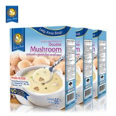 เลดี้แอนนา ซุป รสเห็ดรวม Lady Anna Double Mushroom Soup (3 กล่อง)