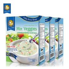 เลดี้แอนนา ซุป รสผักรวม Lady Anna Mix Veggies Soup (3 กล่อง)