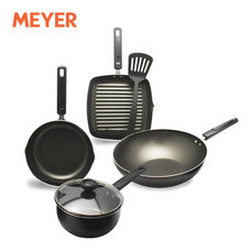 MEYER ชุดเครื่องครัว 6 ชิ้น (รวมฝา) รุ่น Duo Pack - สีดำ