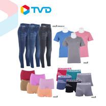 TV Direct ST. PATRICK เชตเนื้อคู่18 ชิ้น (เสื้อยืด +กางเกงชั้นในผู้ชาย+เลคกิ้ง + กางเกงชั้นในขาสั้นผู้หญิง)