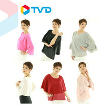 TV Direct Madam O Size 44 เสื้อผ้าชีฟอง 3 แบบ 6 ตัว ไซส์ 44