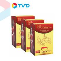 TV Direct Fatis Coffee Plus กาแฟเพื่อสุขภาพ 3 IN 1 ผสมโสม ถังเช่า และ เห็ดหลินจือ 3 กล่อง (รวมทั้งหมด 45 ซอง)