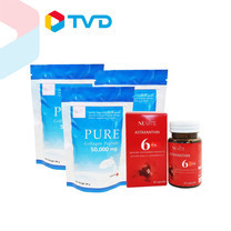 TV Direct NUVITE PURE COLLAGEN PEPTIDE 50 G. 3 ซอง พร้อม NUVITE ASTAXANTHIN 6 MG.