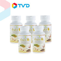 TV Direct 4 Mix Oil Set ผลิตภัณฑ์เสริมอาหารน้ำมันสี่สหาย 5 กระปุก (กระปุกละ 60 เม็ด)