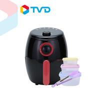 TV Direct Sameo Air Fryer หม้อทอดไร้น้ำมัน 2.0 ลิตร แถมฟรี กล่องถนอมอาหาร 6 ชิ้น และ ที่คีบอาหาร