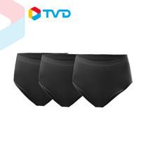 TV Direct Gena By GN Brief Classic Collection Black (3Pack) กางเกงในสวมสบาย (3 ชิ้น) สีดำ