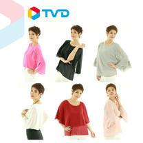 TV Direct Madam O Size 48 เสื้อผ้าชีฟอง 3 แบบ 6 ตัว ไซส์ 48