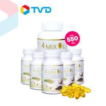 TV Direct 4 Mix Oil Set ผลิตภัณฑ์เสริมอาหารน้ำมันสี่สหาย 5 กระปุก (กระปุกละ 60 เม็ด) และ 4 Mix Oil ผลิตภัณฑ์เสริมอาหารน้ำมันสี่สหาย 1 กระปุก (กระปุกละ 250 เม็ด)