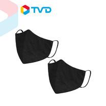 TV Direct Live Well Mask Dark black (2 Pcs/Pack) หน้ากากอนามัย สีดำ 2 ชิ้น