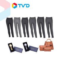 TV Direct ST.PREMA สวยครบเชต (นาฬิกา 2 เรือน +กระเป๋า 3 ใบ+กางเกงลายทาง 6 ตัว)