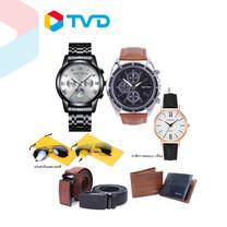 TV Direct HIGH SWISS Accessories Set V.2 (นาฬิกา 2 เรือน+เข็มขัด 2 เส้น+กระเป๋าสตางค์ 1 ใบ +แว่นกันแดด 2 ชิ้น)