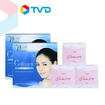 TV Direct NUVITE Collagen Peptide Plus (60 caps.) 2 กล่อง + Nuvite Gluta Soap Box Set (3 Pcs)