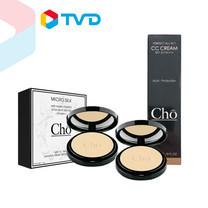 TV Direct โช ไมโครซิลค์ (Cho Micro Silk) แป้งเนื้อใยไหมผสมรองพื้น 1 แถม 1 ฟรีรองพื้น CC Cream (M3 ผิวสองสี)