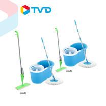 TV Direct เซ็ตบ้านสะอาดเอี่ยม (SPIN MOP 2 ถัง แถม สเปร์ยม๊อบ 2 อัน)