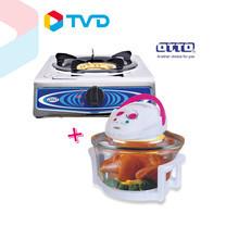 TV Direct Otto Kitchen Set หม้ออบลมร้อน รุ่น 703A คู่เตาแก๊ส Gs-851