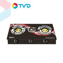 TV Direct QREA เตาแก๊สหน้ากระจกนิรภัย 3 หัวฟู่ ไฟแรง อาหารอร่อย 1090 บาท