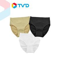 TV Direct Gena Brief Classic Set (3 Pcs) White Black Beige กางเกงชั้นใน สีขาว ดำ เนื้อ