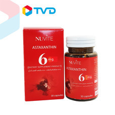 TV Direct Nuvite Astaxanthin 6 mg. ผลิตภัณฑ์เสริมอาหาร (กระปุกละ 60 แคปซูล)