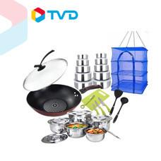 TV Direct DIAMOND FLAME ชุดเครื่องครัว คุณแม่ร้องกรี๊ด (กระทะ+ หม้อสเตนเลส)