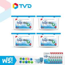 TV Direct SAINT เซนท์ เจลแคปซูลซักผ้า นาโนโพรเทคชั่น 4 กล่อง พร้อมของแถม