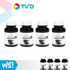 TV Direct Spirulina ผลิตภัณฑ์เสริมอาหารสาหร่ายสไปรูลิน่า (กระปุกละ 60 เม็ด 4 กระปุก) แถมฟรี 4 กระปุก
