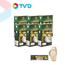 TV Direct DEE COFFEE กาแฟสำเร็จรูป 6 กล่อง (กล่องละ 10 ซอง) แถมฟรี อีก 1 ซอง + นาฬิกาข้อมือ (คละสี)