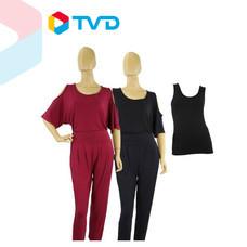 TV Direct KOKO2000 ชุดเสื้อกับกางเกงผ้าเรย่อน (EC)