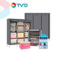 TV Direct Mc Wardrobe Set ตู้เสื้อผ้าขนาดใหญ่ ชั้นวางของอเนกประสงค์ กล่องอเนกประสงค์ แถมฟรี ตู้เสื้อผ้าขนาดใหญ่ และ ที่ใส่ของอเนกประสงค์แบบแขวน จำนวน 1 ชิ้น (คละสี)